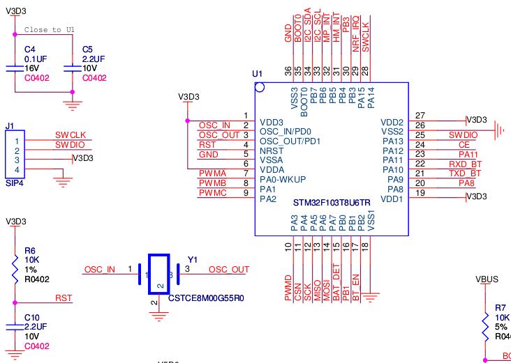 mpu6050(3加速度 3角速度) 电子罗盘:hmc5883l 无线通信协议:nrf24l01